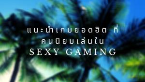 แนะนำเกมยอดฮิต ที่คนนิยมเล่นใน sexy gaming